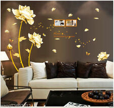 New Removable Wall Stickers Home Decor Art Decal Mural Room DIY Paper Flower uf