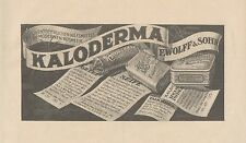 Y4191 KALODERMA - F. Wolff & Sohn - Pubblicità d'epoca - 1925 Old advertising