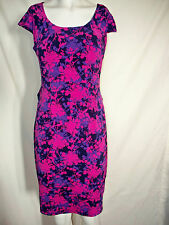 New Chadwicks Shape Benefits Dress Pink Floral Scoopneck Cap Sleeve 12P A16