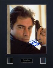 Timothy Dalton Signed Photo Film Cell Presentation