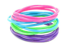 New High Quality 24 Piece Pastel Colored Jelly Bracelet Set #B1009-24