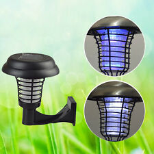 Solar Powered UV Mosquito Insect Zapper Killer Bug Trap LED Garden Light Lamp