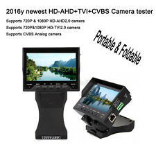 Foldable Wristband 1080P HD-AHD+TVI+CVBS CCTV Camera Monitor Tester UTP 12V-Out