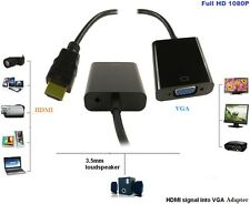 NUOVO Input HD HDMI per l'output VGA cavo convertitore adattatore per PC DVD MONITOR TV UK