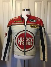 LUCKY STRIKE Motorcycle Biker leather Jacket Size (m)