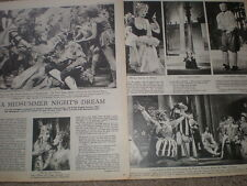 Photo article on A Midsummer Night's Dream by V S Pritchett 1945