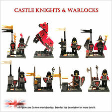 NEW Castle custom minifigures. set of 8 figures. Knights, Horse. MORE Available