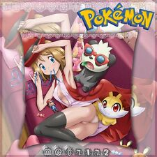Anime Pokemon Serena Dakimakura 2WT Throw Pillow Case Cushion Cover DIY 40*40cm