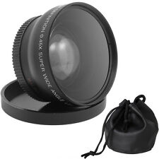 0.45x 52mm Super Wide Angle Macro Lens for Canon Nikon 18-55mm 55-200mm 50mm