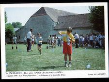 SAINT-LEGER-des-AUBEES (28) JEU POPULAIRE en BEAUCE / ECHASSES & BOUTEILLE 1990