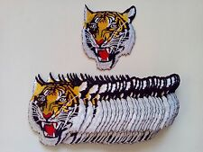 """30 Pcs Medium Tiger Head Embroidered Patches 4.5""""x3.9"""""""