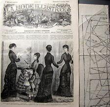 LA MODE ILLUSTREE + PATRON,  n° 40/1879 Voir modèles à réaliser, FRENCH PATTERN
