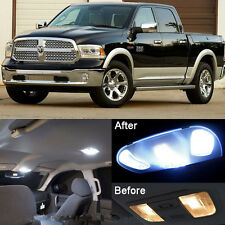 White LED Interior kit + License Light For Dodge Ram 1500 2500 3500 2009-2016