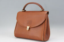 Auithentic BURBERRY Handbag Leather Brown Burberry Check Inside 599e18