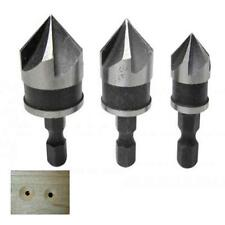 SET OF 3 COUNTERSINK DRILL BITS FOR COUNTERSUNK HOLES IN WOOD PLASTIC MDF PLYWOO