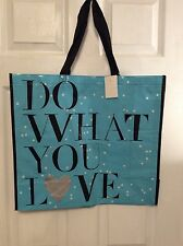 Huge Shopping Grocery Reusable Bag Tote DO WHAT YOU LOVE Fashionable NWT