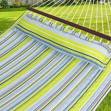 Hammock Quilted Fabric With Pillow Double Size Spreader Bar Heavy Duty Bran