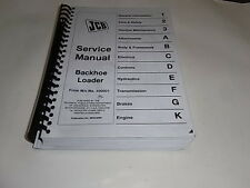 JCB Loadall Service manual backhoe loader from M/c No. 400001 photocopy