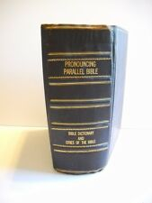 Antique~Leather Bound~1890 Pronouncing Parallel Bible Dictionary & Cities Bible