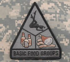 BASIC FOOD GROUPS USA ARMY MORALE MILITARY TACTICAL BADGE ACU DARK VELCRO PATCH