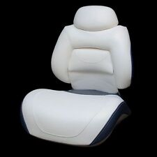 TRACKER M2520AB OFF WHT/DRK BLUE FOLDING BOAT FISH SEAT