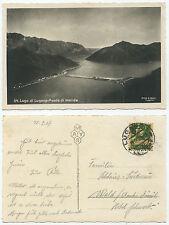 31940-Lago di Lugano-Ponte di Melide-real foto-ak, corriendo 19.9.1927