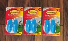 COMMAND BRAND 3M x 3 - 6 hooks set damage free hanging  VINTAGE TEAL holds 1.3kg