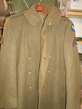 US Army Air Forces Wool Overcoat 40R With Patches Aviation NCO Scarf Winter Coat