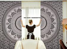 2pc Ombre Mandala Schal Vorhangverkleidung Setzt Vorhänge Extra Breite Indische