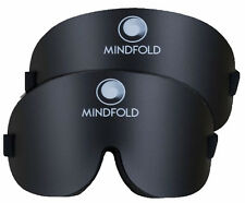 Mindfold The Black Sleep Mask Collection  Blindfold with Eye Cavities Pack of 2
