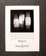 [GCG]  M623 - Advertising Pubblicità -1986- REVERSO DE JAEGER LE COULTRE