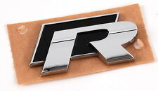 VOLKSWAGEN GOLF SCIROCCO R REAR CHROME SELF ADHESIVE BADGE EMBLEM LOGO STICKER