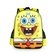 NEW cute 3D Cartoon Kids Backpack Sponge Bob Series Children Primary School Bag