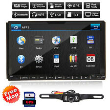 "Double 2 Din 7"" GPS Car DVD MP3 Player Touch Screen In Dash Stereo+Camera"