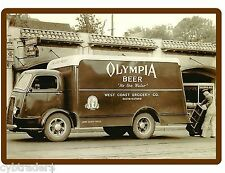 Vintage Olympia Beer Truck  Refrigerator / Tool Box Magnet Man Cave