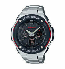 Casio G-Shock G-Steel GSTS100D-1A4 Tough Solar Stainless Steel Men's Watch New