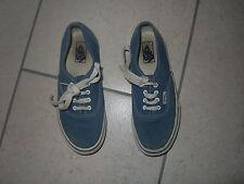Vans Azul Muchachos Informales Con Cordones Zapatos Talla 1/UE 32