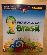 UK Panini  2014 FIFA World Cup  Brazil Brasil Sticker Album & 6 Starter Stickers