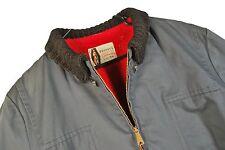 MENS 44 VTG 60s Penneys Full Zip Clicker Car Coat Fur Lined Mechanic Work