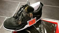 "Nike Air Jordan 4 IV retro black gold ""Royalty"" US 9.5 EU 43 NEU OVP"