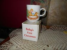 Collectible Baby's First Christmas Ceramic Mug By Russ In Box Baby Shower Gift
