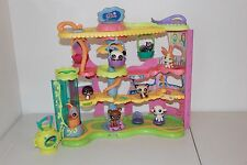 LITTLEST PET SHOP ROUND N ROUND TOWN LOT HASBRO PLAYSET HOUSE CAT DOGS panda LPS