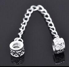 Zig Zag Safety Chain Stopper Charm Suits Pandora 925 Bracelet