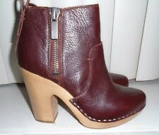 Dolce Vita Brandy Leather Double Zip Arlynn Clog Ankle Booties Size 7 NWOB $220