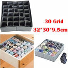 NEW 30 Cells Bamboo Charcoal Ties Socks Drawer Closet Organizer Storage Box FE