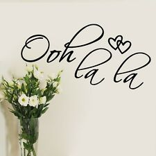 Ooh La La Art Vinyl Wall Stickers Home Decals Wall decor Wallpaper Mural Quote