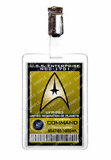 Star trek command division starfleet badge d'identification cosplay prop costume comique avec