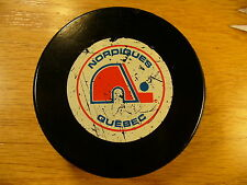 NHL Quebec Nordiques Non-Approved Official Game Hockey Puck Check My Other Pucks