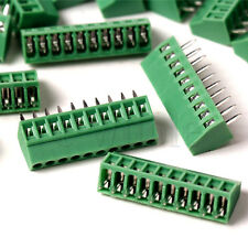 5Pcs 2.54mm Pitch 10 pin Straight Pin PCB Screw Terminal Block Connector HM
