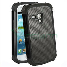 Custodia Duo Shield per Galaxy S3 mini Value i8200 NERO silicone+rigida cover